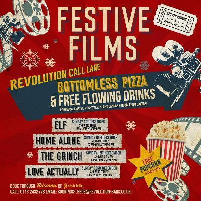 Elf - Festive Film, Bottomless Pizza & Free Flowing Drinks
