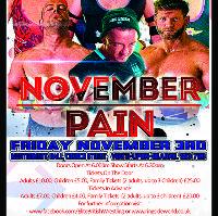Elite British Wrestling Live In Wath! November Pain Fri 3rd Nov