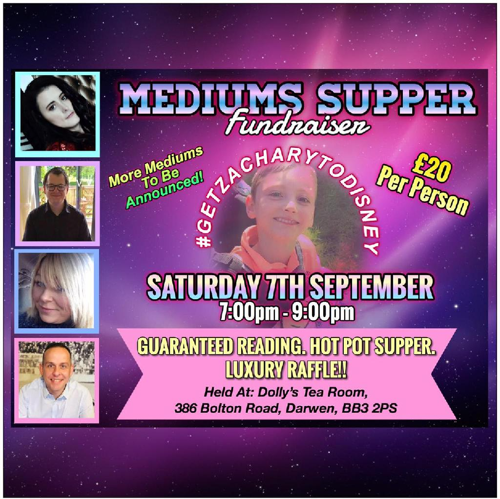 Psychic Supper - Fundraising for Zachary Tickets | Dollys Tea