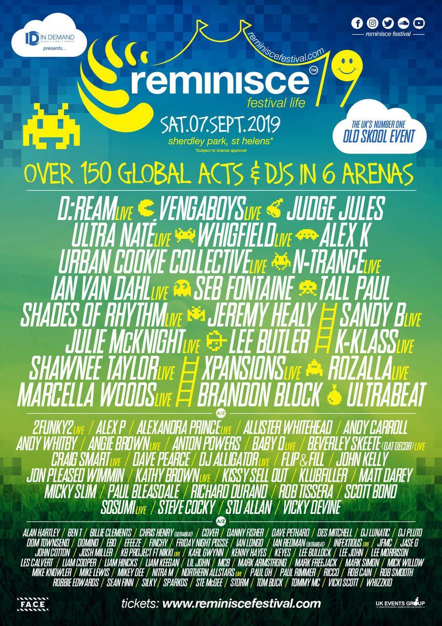 Reminisce Festival Line up 2019