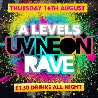 A levels results night UV neon rave | sells out every year