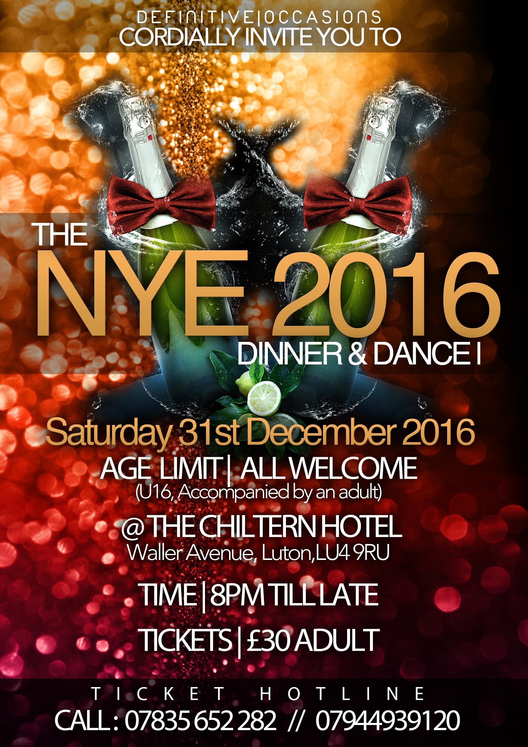 Chiltern Hotel Luton New Years Eve