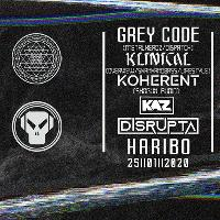 EQ Underground Festival 2020 : Grey Code,Klinical,Koherent,+more
