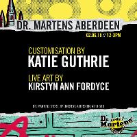 Free Dr. Marten's boot customisation with Katie Guthrie