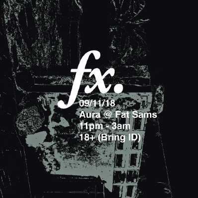BPM   FX   Fat Sam's Dundee   Fri 9th November 2018 Lineup