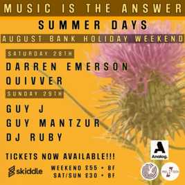 Music is the Answer presents Summer Days