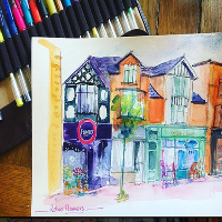 Crash Course Crafts  - Urban Sketching with Penny Hicks