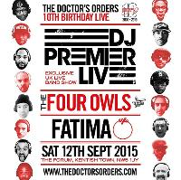 The Doctor's Orders 10th Birthday Live - DJ Premier Live Band