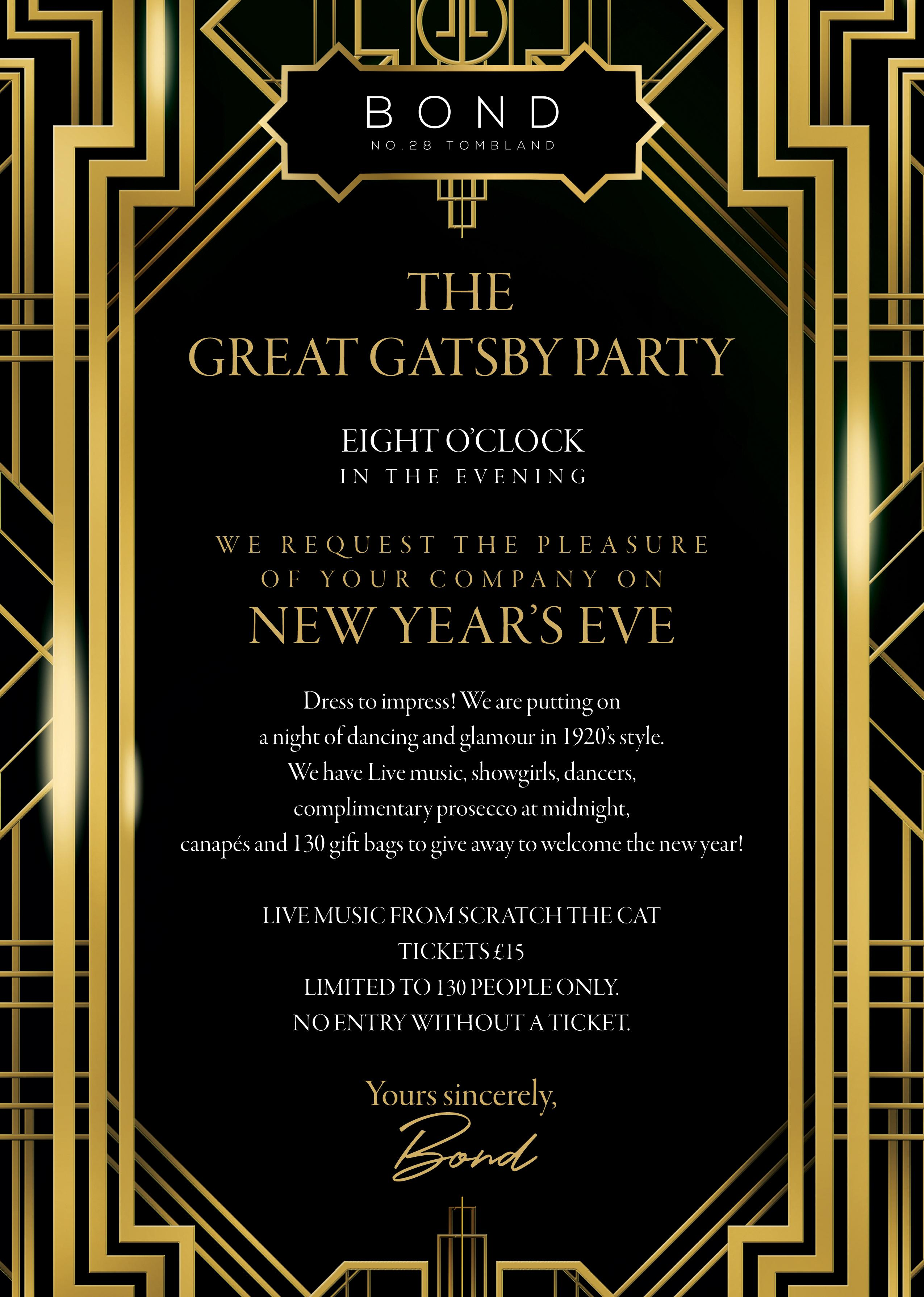 The Great Gatsby Invitation For Party Gallery - Party Invitations ...