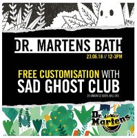Dr Martens Free In-Store Customisation with Sad Ghost Club
