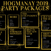HOGMANAY Party Packages 2019