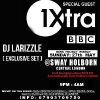 Bbc1 xtra dj larizzle live. Sway. Central london