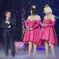 Comedy Drag Act Bosom Buddies as seen on Britain