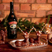 Baileys Chocolate Reindeer ride through London for Christmas
