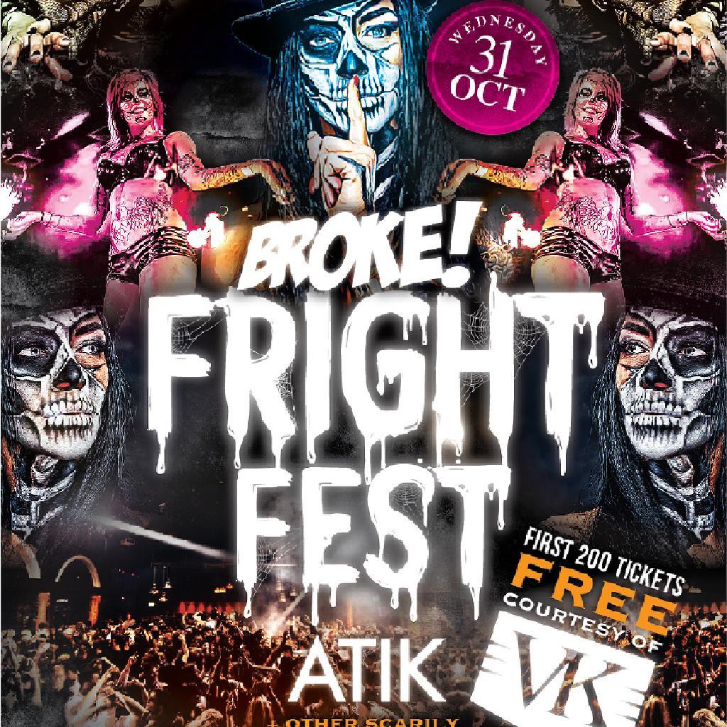 Broke! Fright Fest - Edinburgh's Biggest Halloween Party