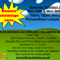 Bounce challenge zone   WED 26th july