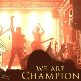 """Freddie's 75th Birthday """"We are champion"""" playing live"""