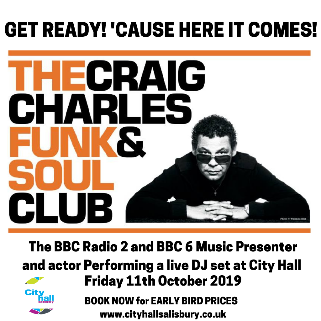 Craig Charles tickets and 2020/2019 tour dates