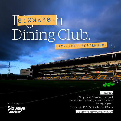 Digbeth Dining Club and Sixways Stadium team up to bring your a three day food and drink festival.
