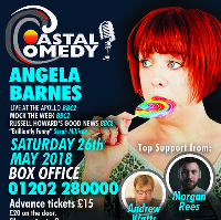 Coastal Comedy presents the stupendous Angela Barnes!