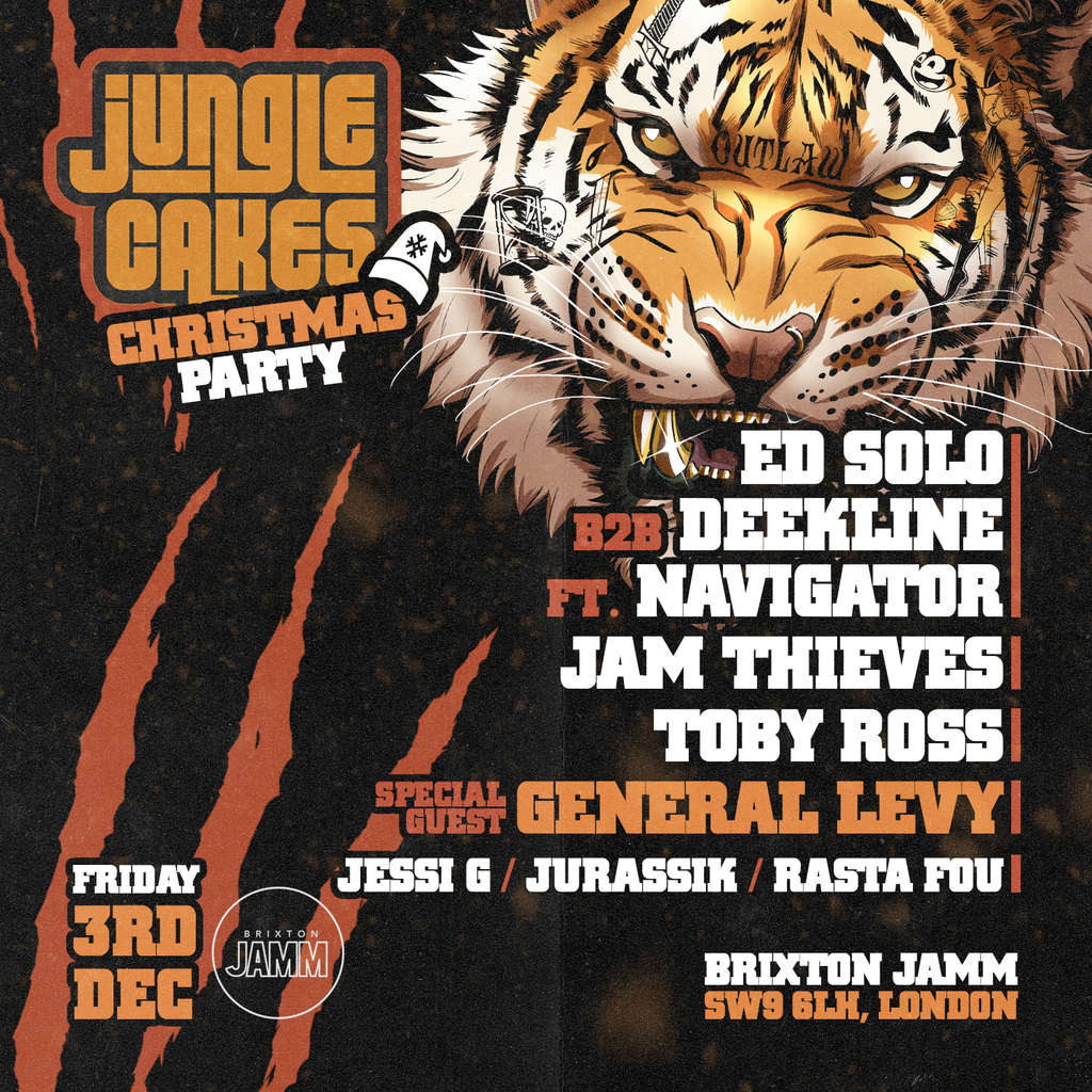 Jungle Cakes Christmas Party w/ General Levy + more at Brixton Jamm