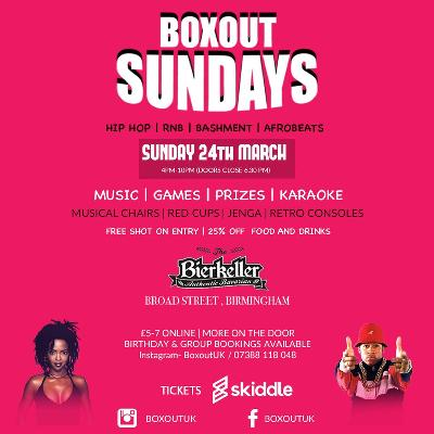 Boxout Sundays- March Edition Tickets | Bierkeller