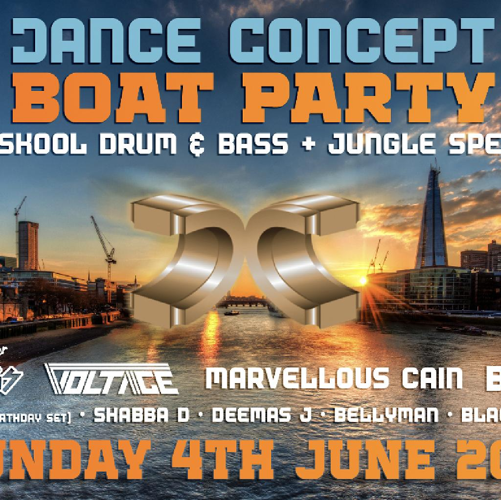 Dance Concept Boat Party - Oldskool D&B / Jungle Special at Jewel Of London