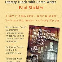 Literary Lunch with crime writer PAUL Stickler