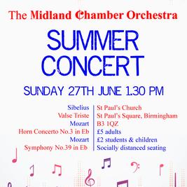 Midland Chamber Orchestra Summer Concert
