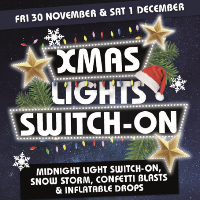 Christmas Lights switch-on Saturday