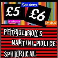 PETROL BOYS, MARTINI POLICE, SPHERICAL LIVE @ MAMA LIZ's