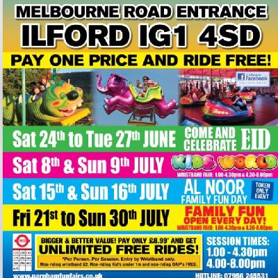 Childrenu0027s Funfair Alnoor | Valentines Park Ilford | Sat 15th July 2017  Lineup
