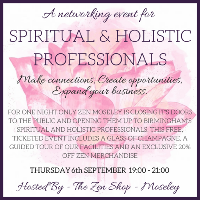 A Networking Event For Spiritual And Holistic Professionals