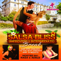 Salsa Bliss Dance Break hosted by Rasa & Adele - 4 nights