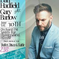 Dan Hadfield as Gary Barlow charity evening for Dementia UK