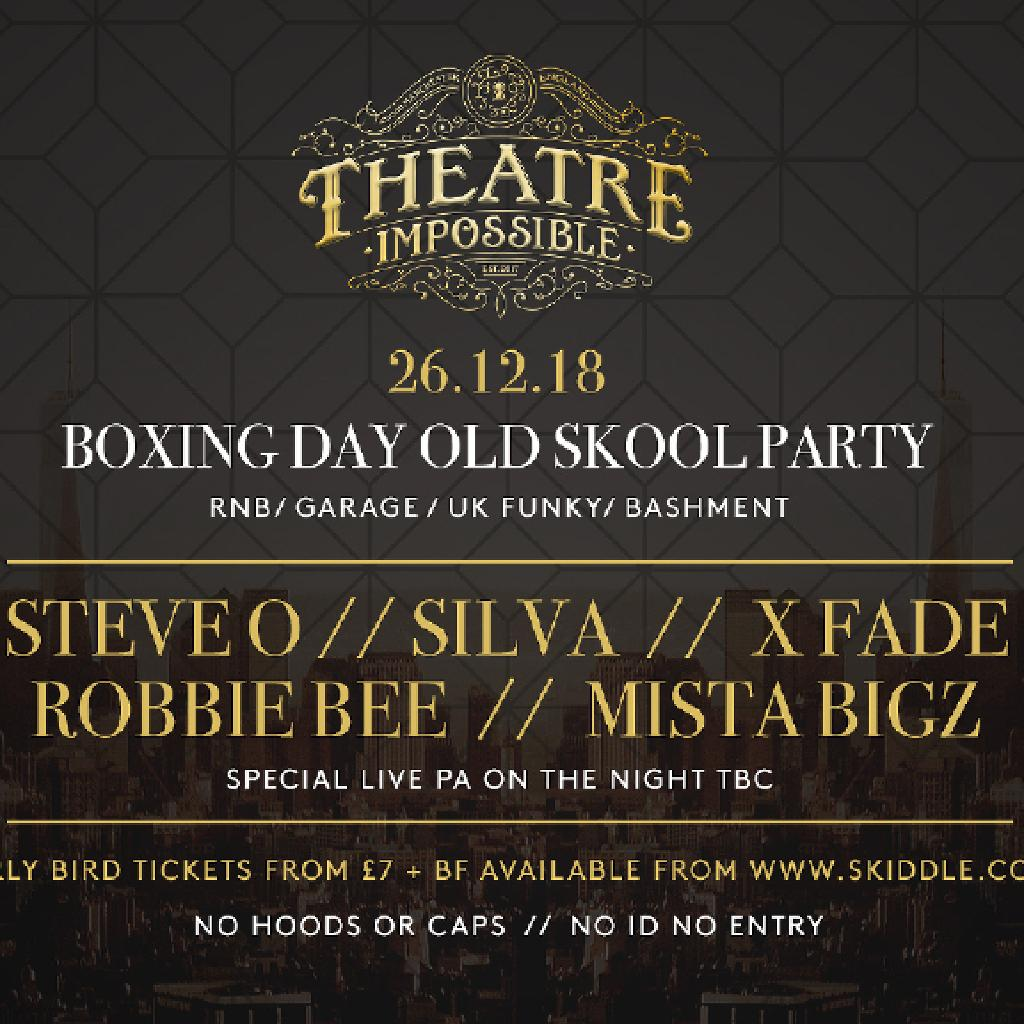 BOXING DAY OLD SKOOL PARTY