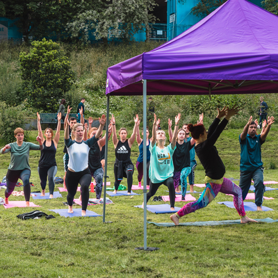 Join us in Angel Meadow park, 8-8.45am on the 30th April for a completely free yoga class, all experiences welcome, just bring a mat