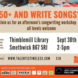 talent Is Timeless songwriters workshop ages 50+