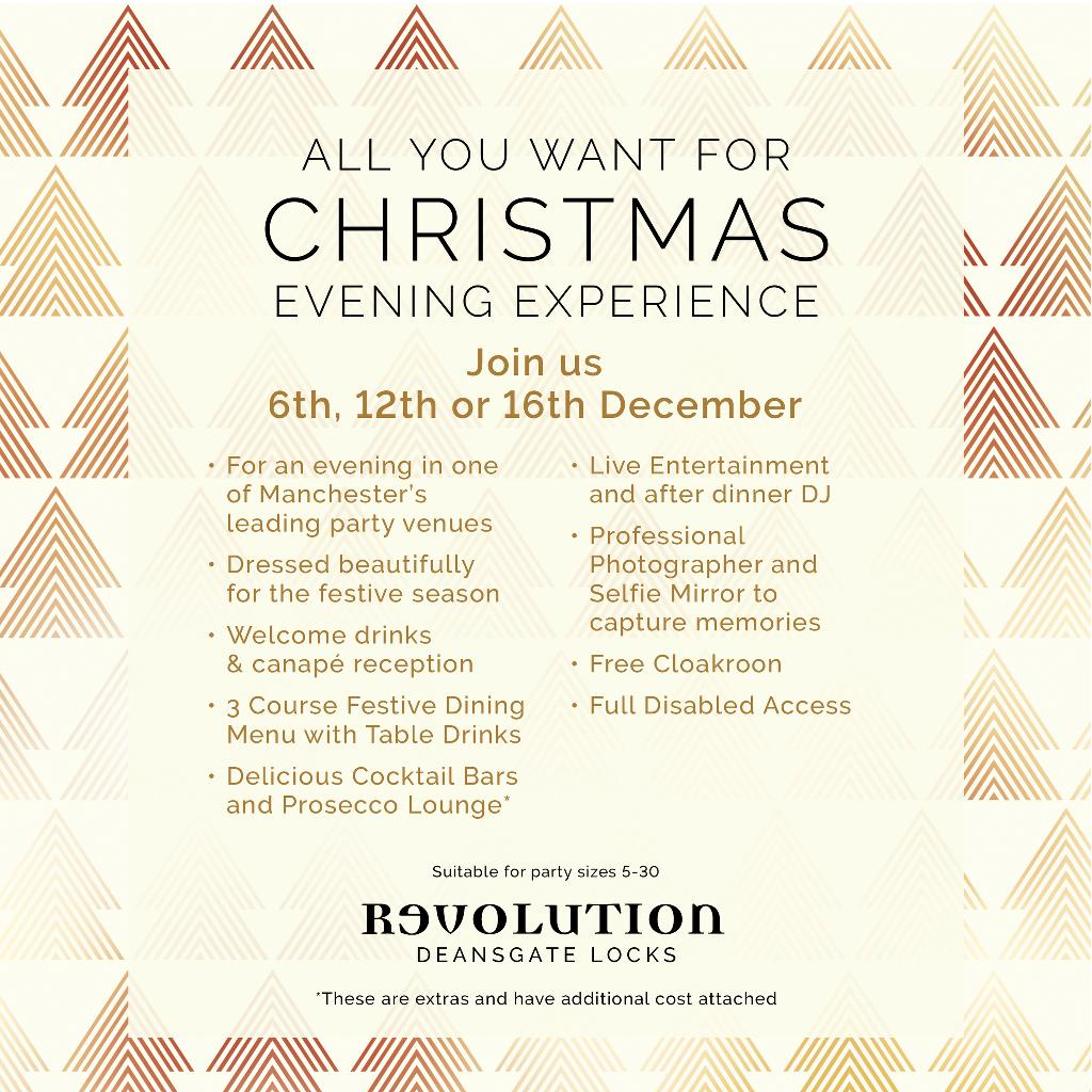 All You Want For Christmas Evening Experience Tickets | Revolution ...