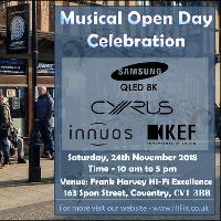Musical Open Day Event at Frank Harvey HiFix