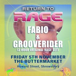 Fabio & Grooverider 'Return to Rage' Shrewsbury