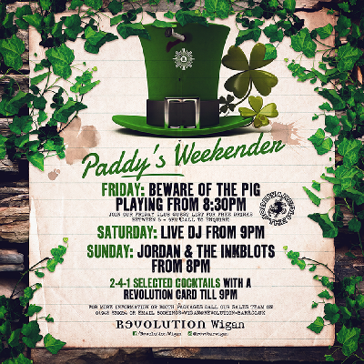 reputable site 5230d f9da9 Beware Of The Pig Live - St Patrick s Weekend Tickets   Revolution Wigan  Wigan   Fri 15th ...