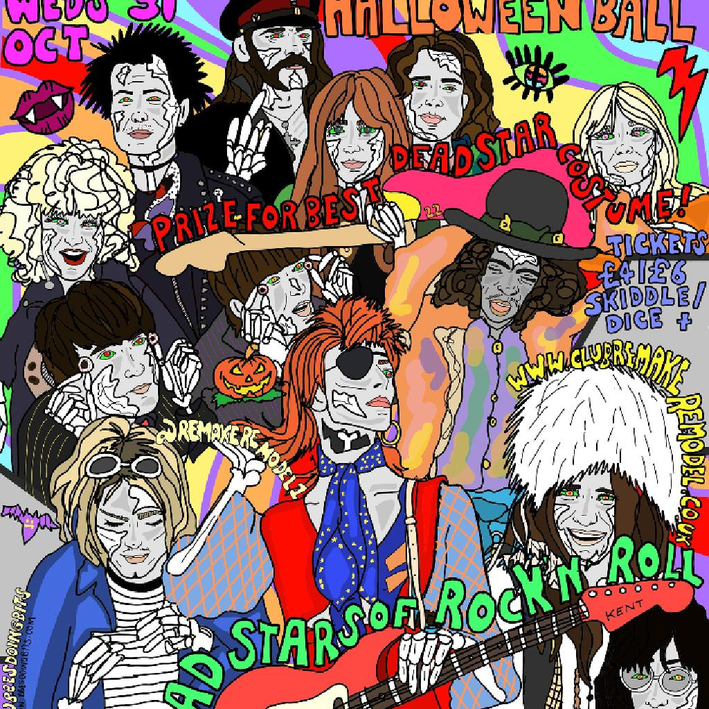 Remake Remodel Dead Stars Of Rock n Roll Halloween Ball
