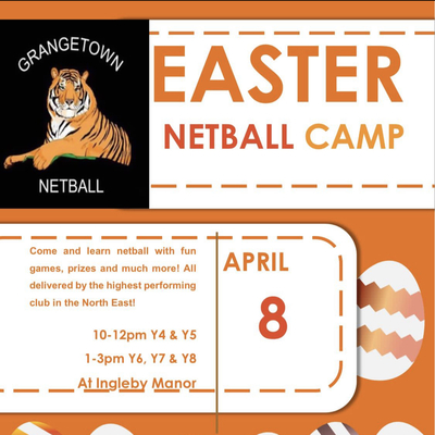 Netball Easter Camp 8 April 2021