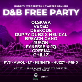 DNBCity x Twisted Sounds Free Party