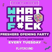 WTF - Manchester Freshers Official Frat Party - 17th September