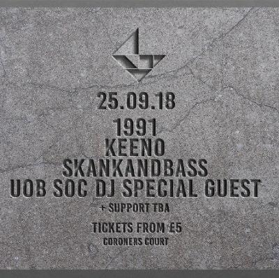 1991, Keeno, Skankandbass, // Groundsound Freshers Tickets | Lakota Bristol | Tue 25th September 2018 Lineup