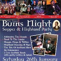 Our Annual Burns Night Supper & Highland Party