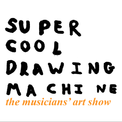 Super Cool Drawing Machine is a celebration of the visual art created by a host of internationally acclaimed, touring musicians.