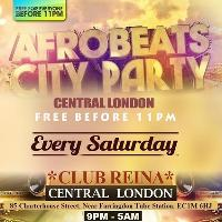Afro beats City Party. Central London. Free before 11pm
